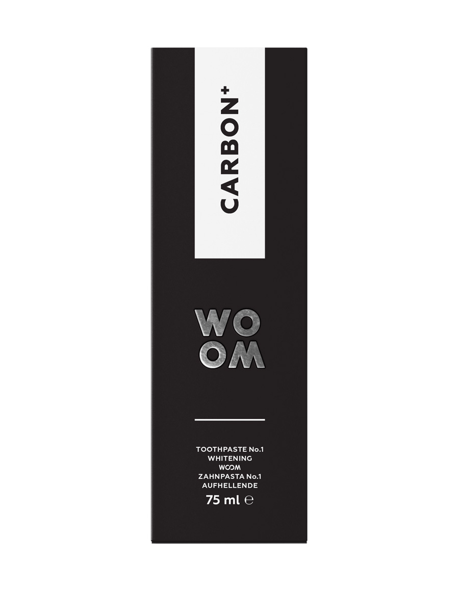 WOOM CARBON+ Toothpaste with activated charcoal & fluoride