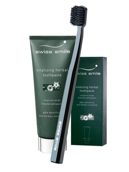 swiss smile Kräuter Zahnpasta und Zahnbürste - Aktionsset