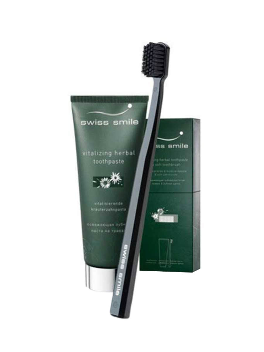 swiss smile Herbal Toothpaste and Toothbrush