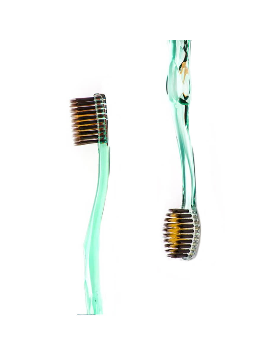 NANO B Green/ Gold antibacterial toothbrush