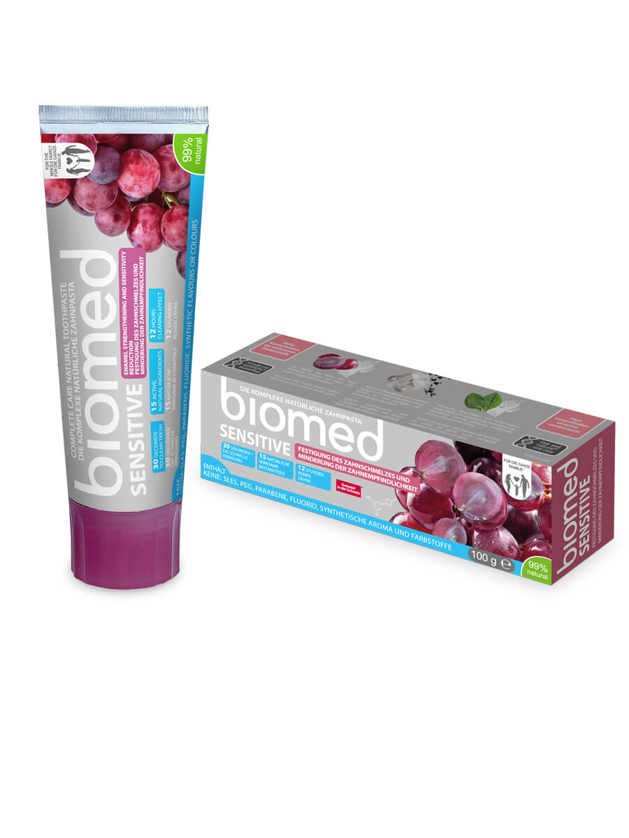 biomed Sensitive natural toothpaste for sensitive teeth