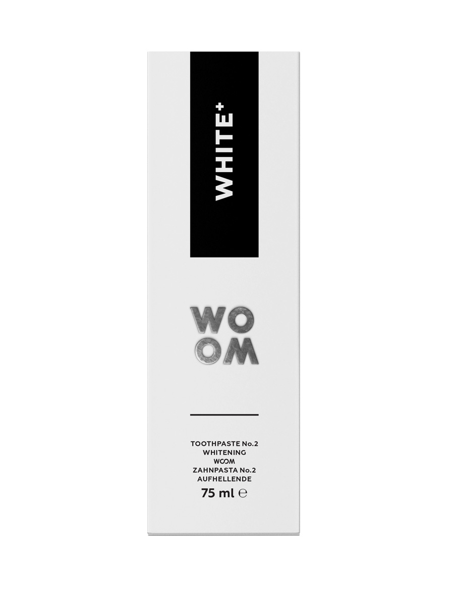 WOOM WHITE+ Whitening Toothpaste with fluoride