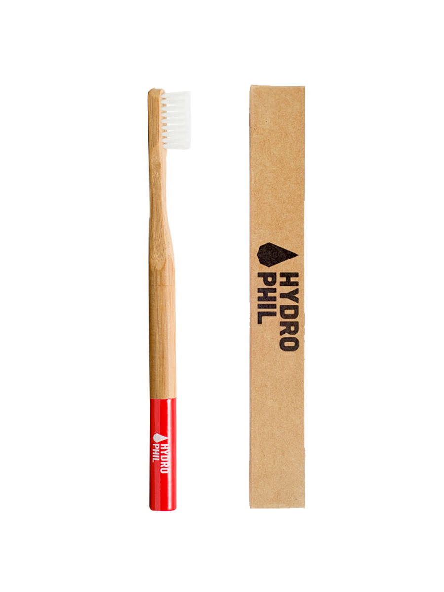 Hydrophil sustainable toothbrush RED medium