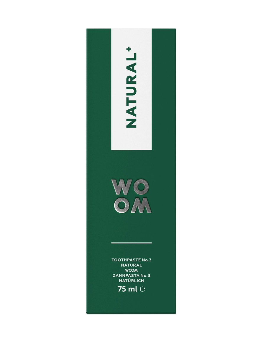 WOOM NATURAL+ vegan toothpaste, 98 % natural ingredients